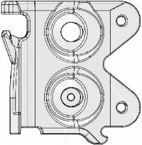 24A0099 CLEAR MOUNTING BRACKET